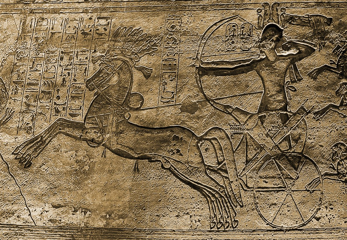 Ramses II at the battle of Kadesh