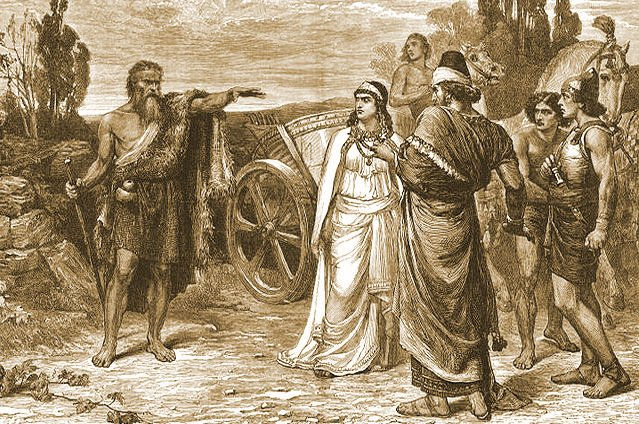 Elijah with Ahab and Jezebel