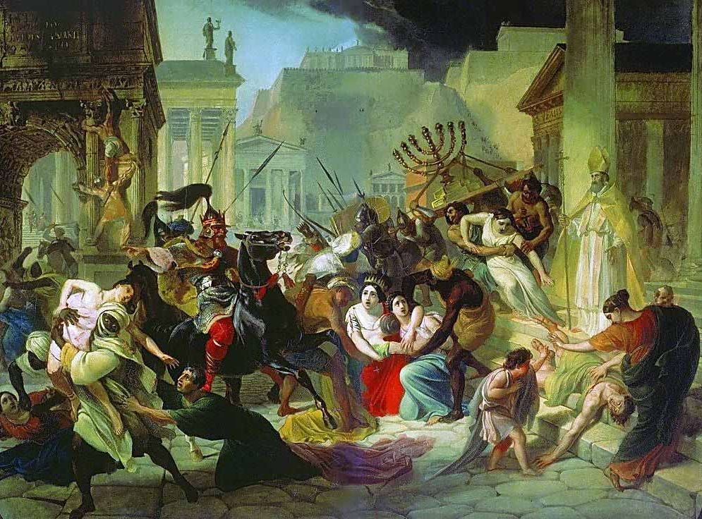 Genseric sacks Rome