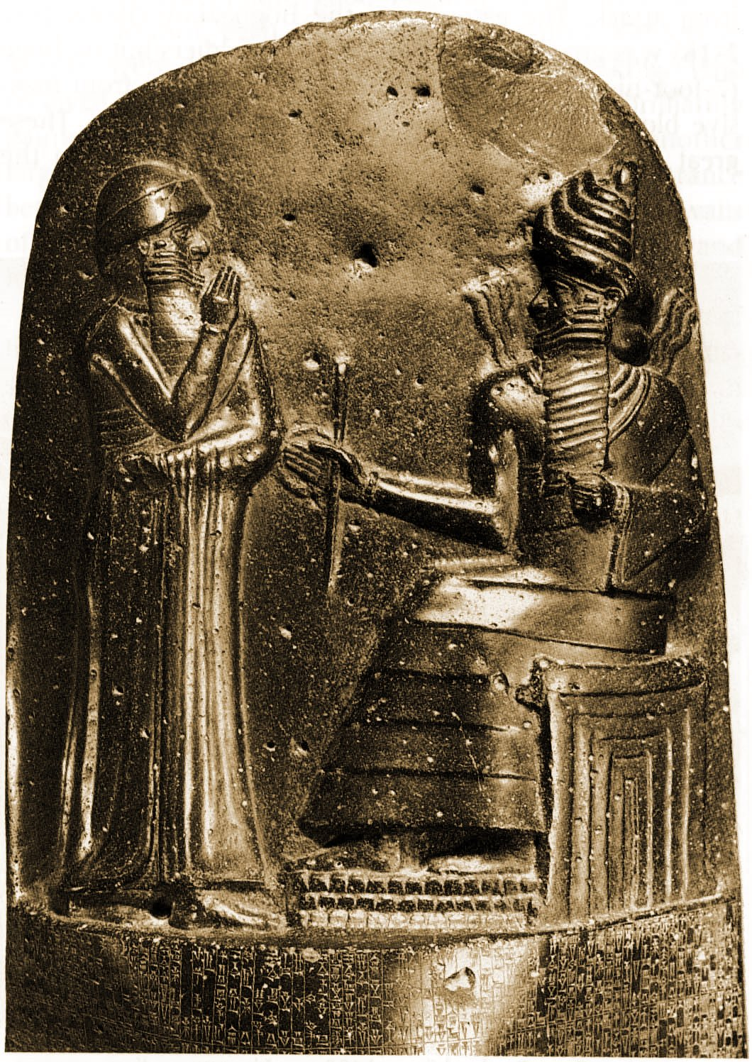 Hammurabi on his throne