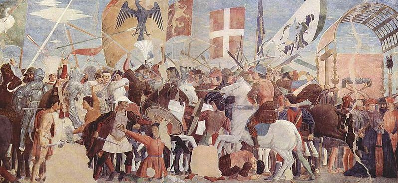 Heraclius' troops against the Persians