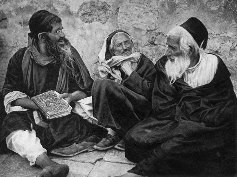 Old Jews in Jerusalem (ca. early 20th century)