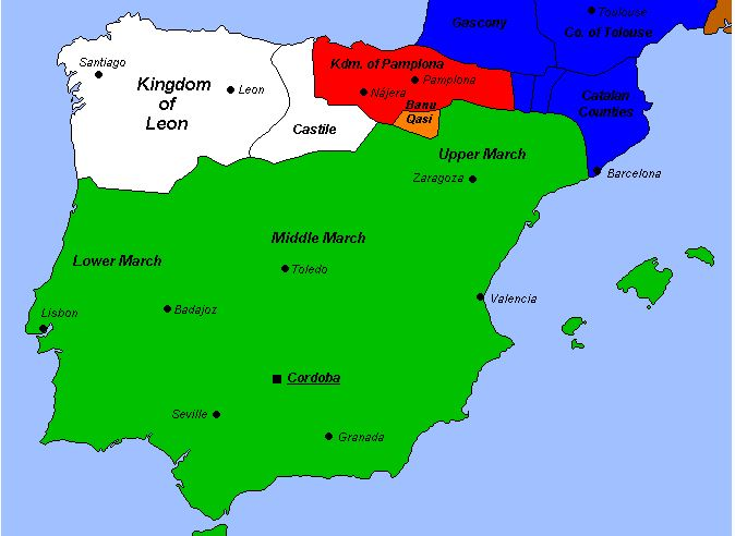 The Caliphate of Cordoba in 1000 CE