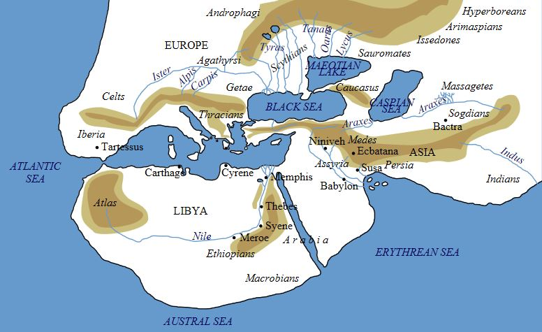 The ancient world according to Herodotus