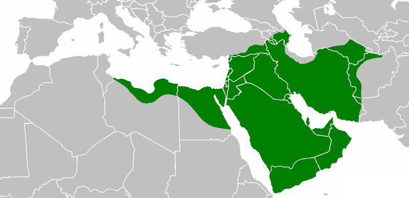 Islamic empire in 644 CE