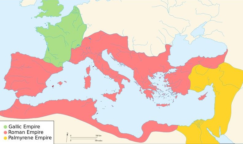 The Roman Empire in 271 CE