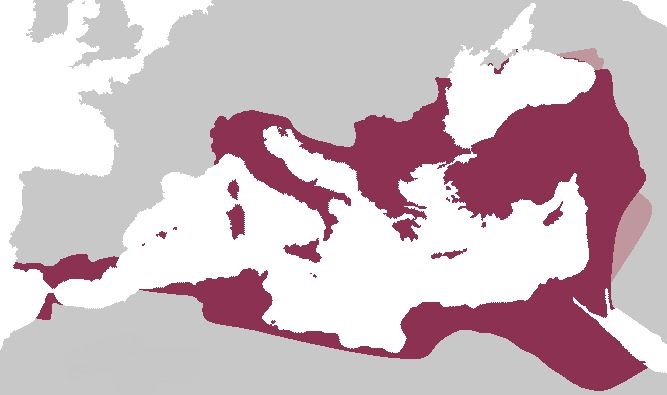 The Roman Empire in 555 CE
