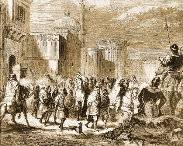 The Muslims leaving Narbonne in 759 CE
