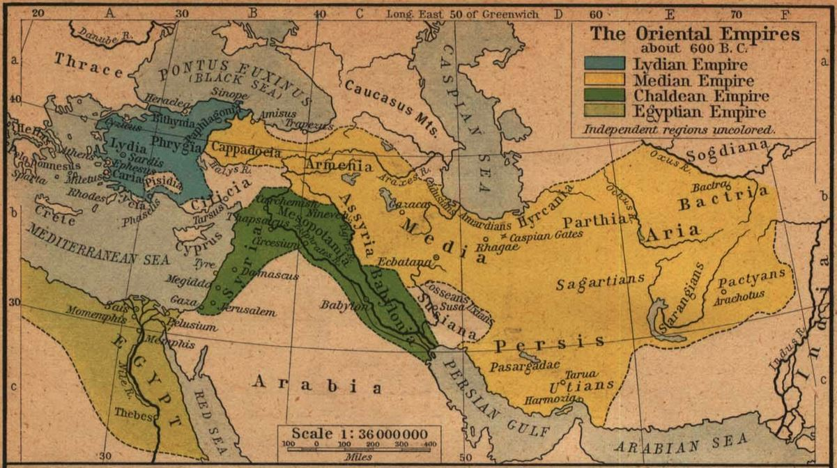 The oriental empires 600 BCE