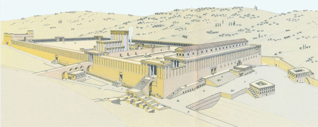 The Second Temple rebuilt by Herod
