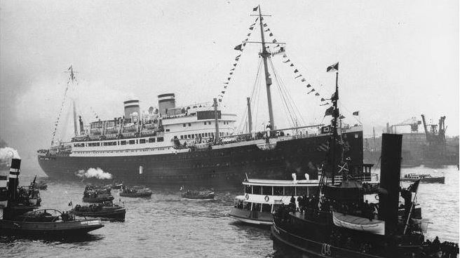 The St. Louis in Hamburg, May 1939